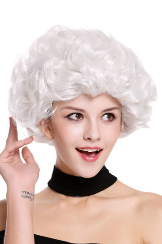 Lady Party Wig white curls curly full volume Granny old older High Society Dame  91097-ZA68C