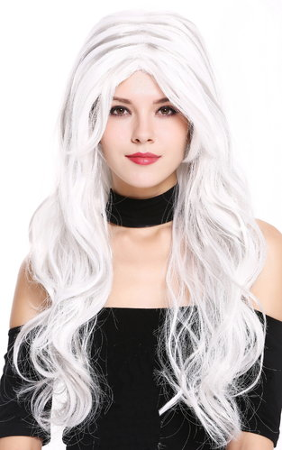 Lady Party Wig white gray mixed long wavy middle parting fairytale fantasy cosplay 91529-ZA60+ZA68A