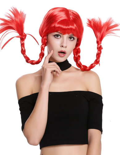 Wig Lady Women Cosplay Naughty Sassy Lolita stiff braided plaits red bangs DDH-T8175-PC13