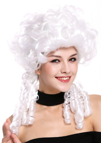 Lady Wig historic Cosplay Baroque Victorian white noble court spiral curls ringlets DH1009-ZA62