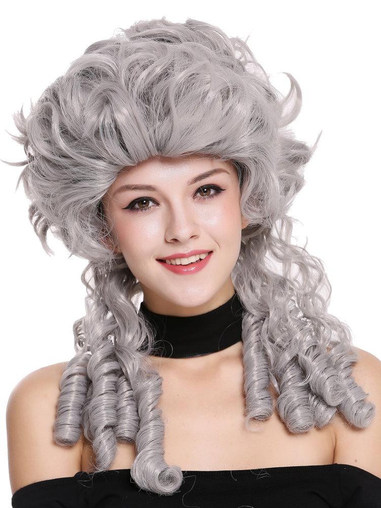 Lady Wig historic Cosplay Baroque Victorian grey noble court spiral curls  ringlets DH1009-ZA68E cb592c82e14a