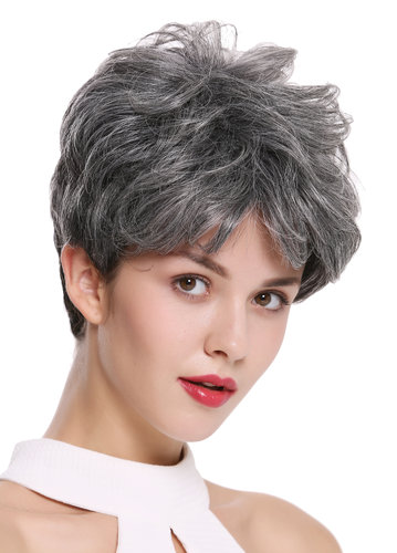DW-2700-DF1202 Lady Quality Wig Short Voluminous teased wavy gray