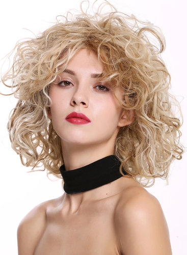 DW-2698 Lady Quality Wig short shoulder-length wild curls curly voluminous mixed blond
