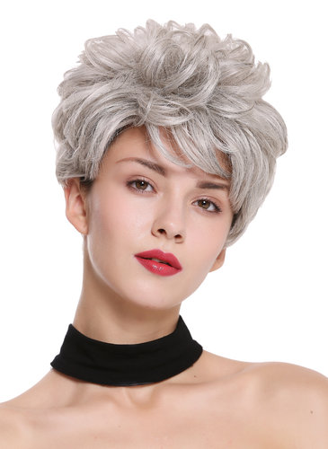 DW-2700-51 Lady Quality Wig Short Voluminous teased wavy silver gray