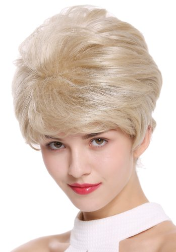 DW2461-22H51 Lady Gents Man Quality Wig short teased voluminous blond with gray