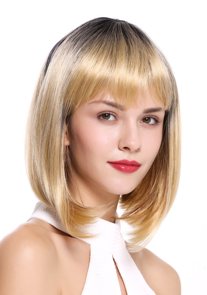 Long Bob Blond Mit Pony