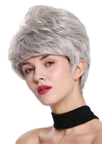 DW2461-51 Lady Gents Man Quality Wig short teased voluminous silver gray