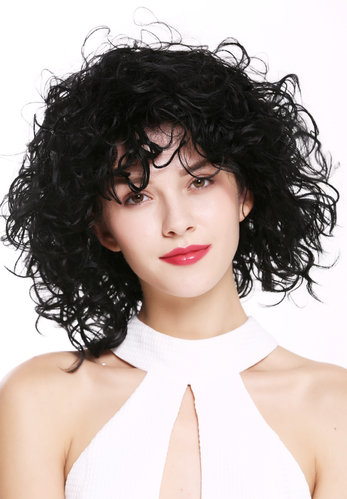 DW-2698-1 Lady Quality Wig short shoulder-length wild curls curly voluminous deep black