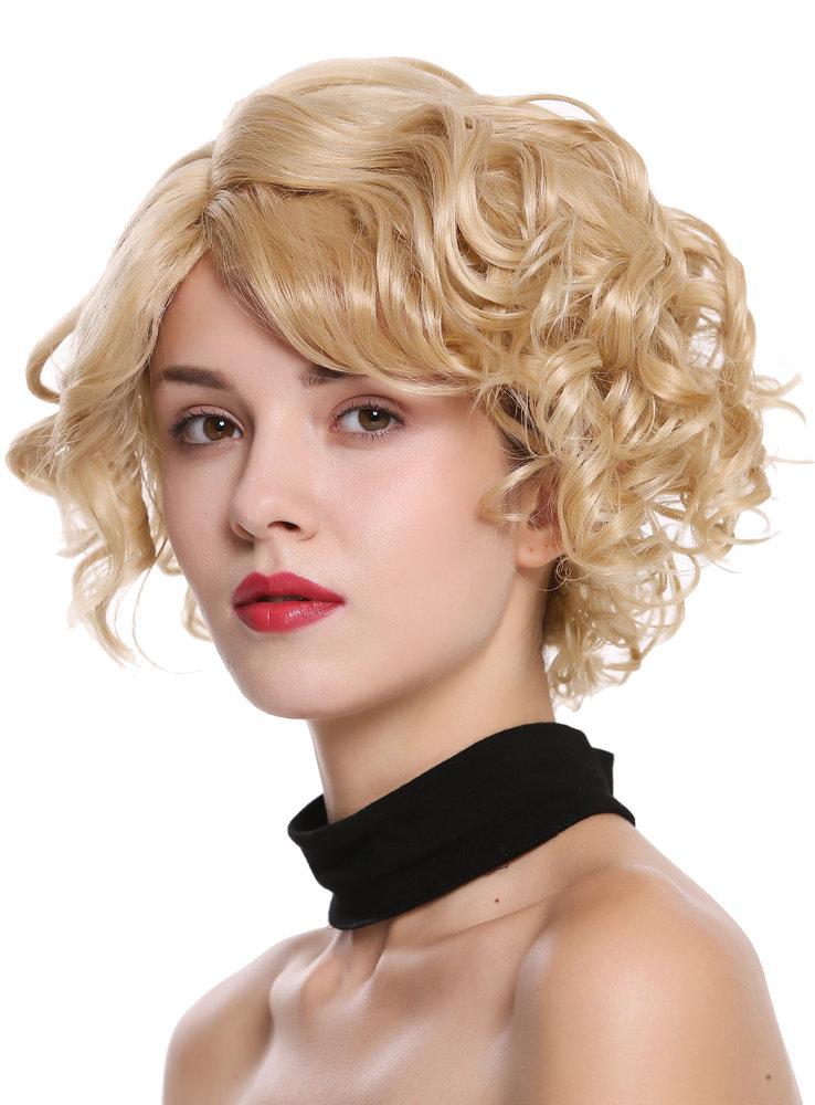 neue Liste langlebig im einsatz mehrere farben Perücke kurz wild wellig Blond Mix MINA-24H613