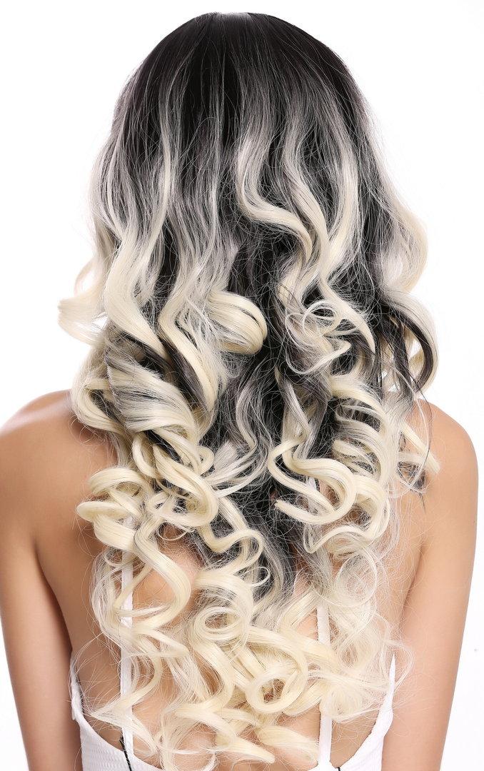 Schwarzen strähnen mit blond Schwarzes Haar