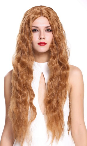 6083H-30 Lady Quality Wig Very Long Wavy Middle-Parting Light Copper Brown