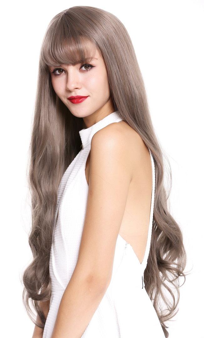 32/'/' Long Straight Long Bangs Auburn Brown Cosplay Wig NEW