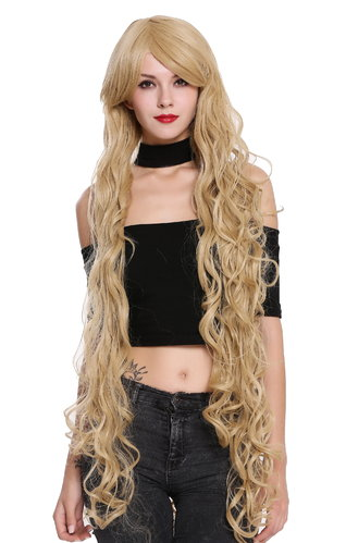CL-100-86 Lady Quality Wig extremely long Rapunzel fairy tale curled curls bright blond