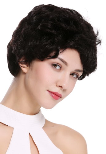 Quality women's wig men's wig human hair short wavy stylish black NG-HH-13-1B