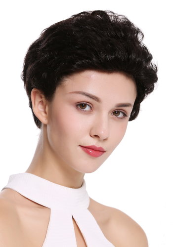 Quality wig wig human hair short wavy stylish pompadour quiff natural colour not dyed black brown