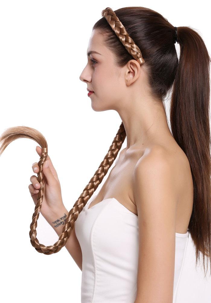 e5e6096b75f39f Haarreif mit Zopf sehr lang geflochten Blond Mix N1038-27H613