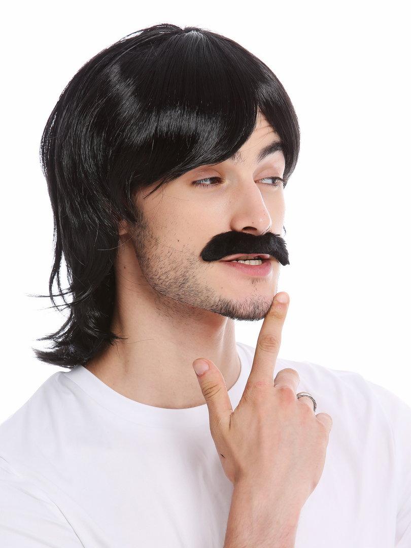 WIG ME UP ® - 91105-ZA103 Wig & Mustache set Halloween