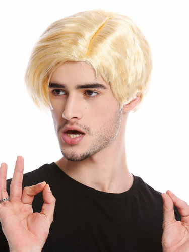 CG-002-P02 Men Wig Halloween Carnival US President Reality Soap Opera Star blond