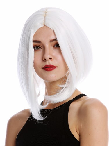Lady Quality Wig Cosplay short shoulder length Bob Longbob straight middle parting white