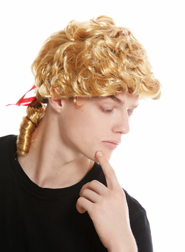 Wig Men Male Wig short Parted Carnival Blonde PW0174-ZA83