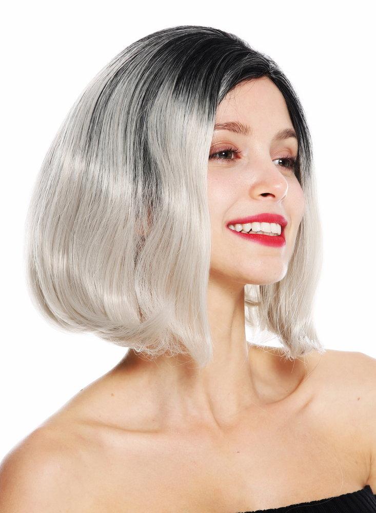 women\u0027s quality wig short bob long bob middle parting ombre