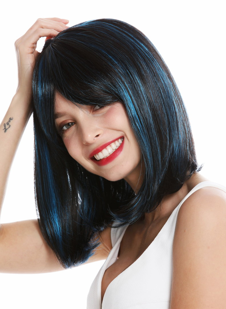 blaue strähnen