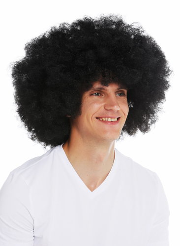 WIG ME UP /® PW0186-P03 Wig Men Women Halloween Carnival Fool Foolish looking frizzy curls curled short mop afro blond
