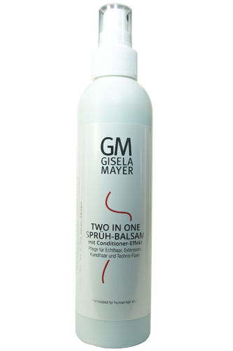 Gisela Mayer Human Hair Two in One Sprüh-Balsam mit Conditioner-Effekt Echthaar & Kunsthaar 200 ml