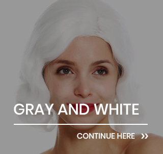 White and gray wigs