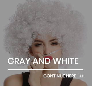 White and gray Party & Fun Wigs