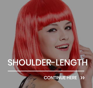 Shoulder-length party wigs