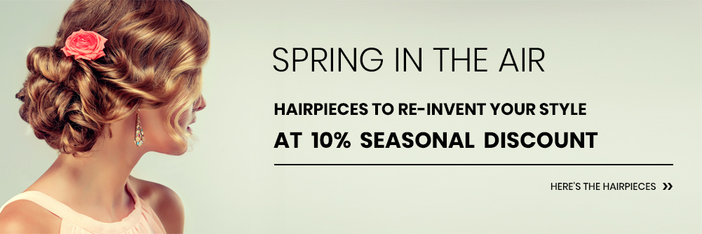 Hairpieces and Extensions for Highlights in Spring
